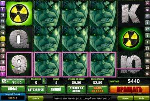 игровой автомат Incredible Hulk